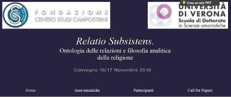 (Italiano) Relatio Subsistens