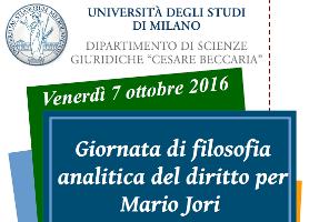 (Italiano) Giornata di filosofia analitica del diritto per Mario Jori
