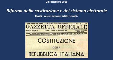 (Italiano) Riforma della costituzione e del sistema elettorale