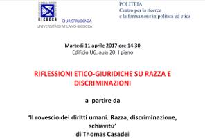 Riflessioni etico-giuridiche su razza e discriminazioni