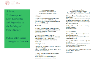 Science, Technology and Law: Knowledge and Regulation in the Building of Future Society
