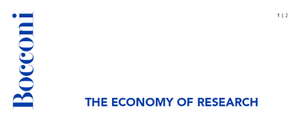The Economy of Research