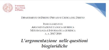 L'argomentazione nelle questioni biogiuridiche
