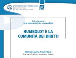 Humboldt e la comunità dei diritti