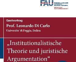 Institutionalistische Theorie und juristische Argumentation