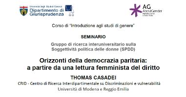 (Italiano) Orizzonti della democrazia paritaria: a partire da una lettura femminista del diritto