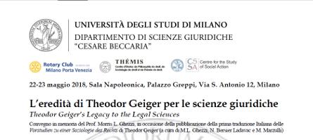 L'eredità di Theodor Geiger per le scienze giuridiche