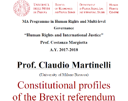 Constitutional profiles of the Brexit referendum