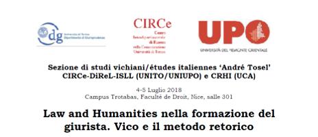 Law and Humanities nella formazione del giurista. Vico e il metodo retorico