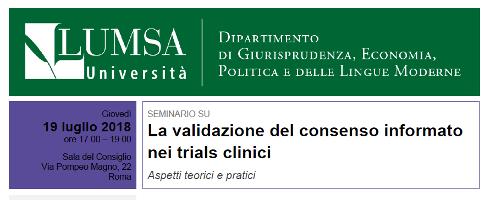 La validazione del consenso informato nei trials clinici