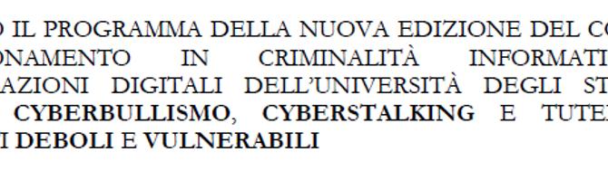 Cyberbullismo, cyberstalking e tutela dei soggetti deboli e vulnerabili