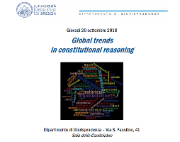 Global trends in constitutional reasoning