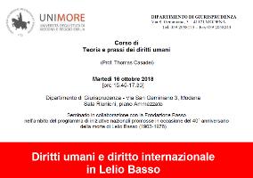 Diritti umani e diritto internazionale in Lelio Basso