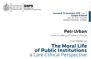 The Moral Life of Public Institutions. A Care Ethical Perspective