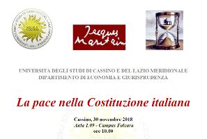 La pace nella Costituzione italiana