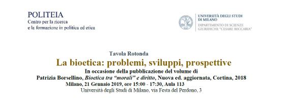 La bioetica: problemi, sviluppi, prospettive